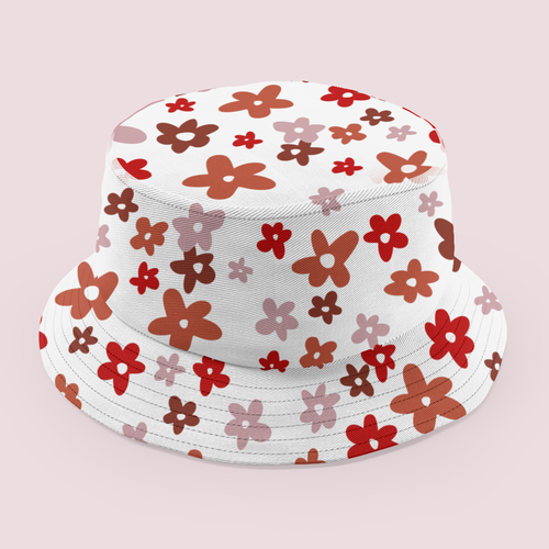 Neutral design with the title 'Cute Retro Floral'