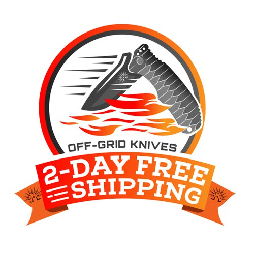 Shipping logo with the title 'Off-Grid Knives Logo'