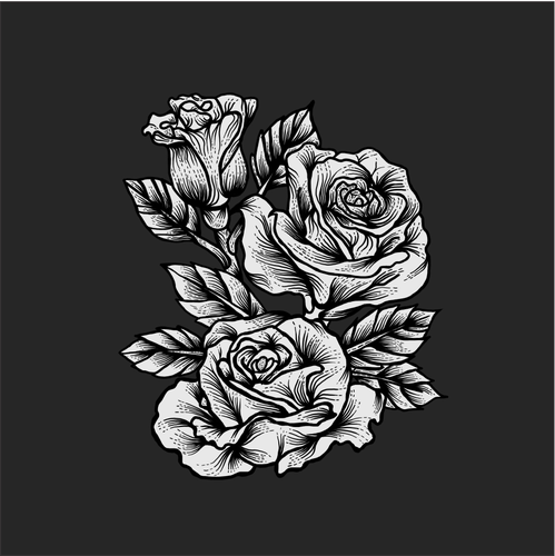 Rose t-shirt with the title 'T-Shirt design concept for rose flower'