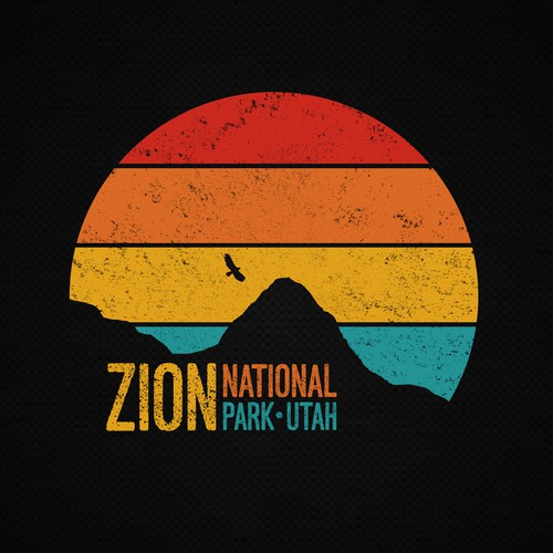 Retro t-shirt with the title 'Zion National Park '