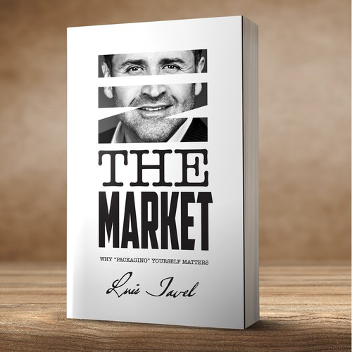 Stylish book cover with the title 'In the market - Book Cover'