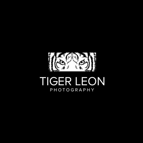 Animal logo with the title 'Tiger Leon Photography logo'