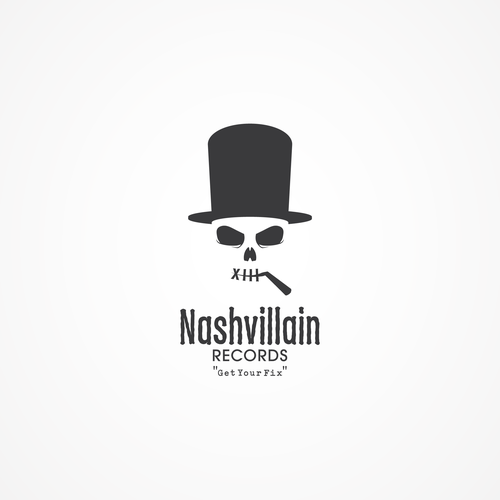 Charcoal logo with the title 'Nashvillain Records'