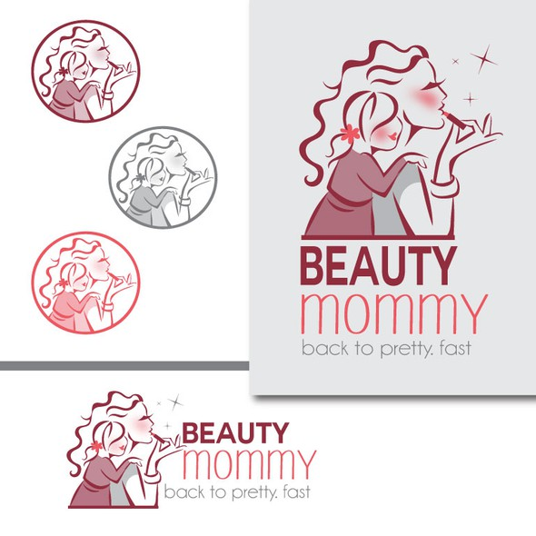 Daughter design with the title 'Create an iconic logo for BeautyMommy.com'
