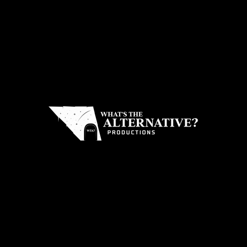 Dark logo with the title 'What's the Alternative? Productions'