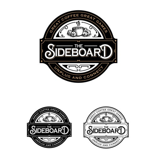 Retro brand with the title 'THE SIDEBOARD LOGO DESIGN'