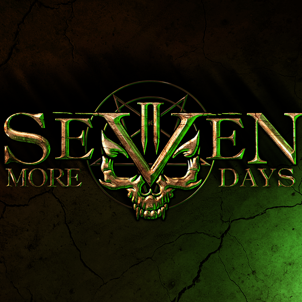 Heavy metal logo with the title 'Logo design for Seven More Days'