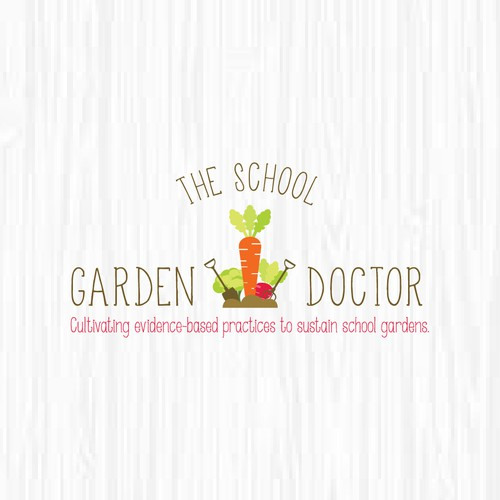 Garden logo with the title 'The School Garden Doctor Needs a Catchy & Earthy Logo!'