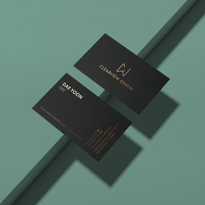 Minimalistic, gold foil card