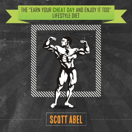 Fitness book cover with the title 'Vintage Bookcover about diet'