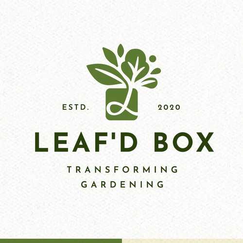 Garden logo with the title 'Leaf'd Box Logo'