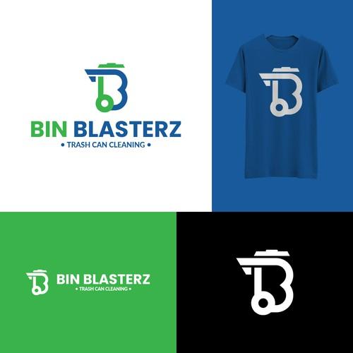 Bin logo with the title 'Modern Logo For Bin Blasterz'