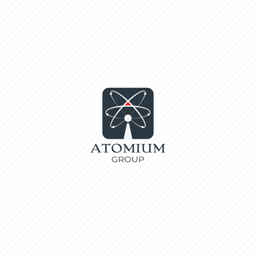 Group brand with the title 'Atomium group logo concept'
