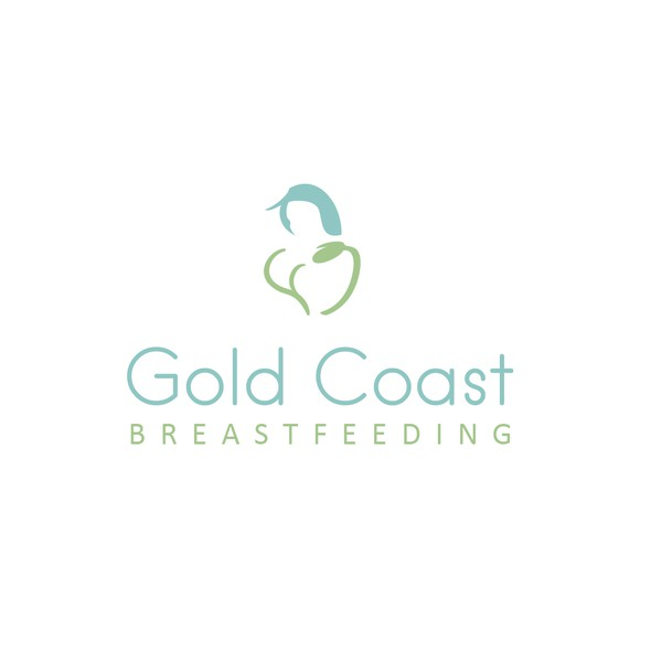 Breastfeeding logo with the title 'Breastfeeding clinic logo'