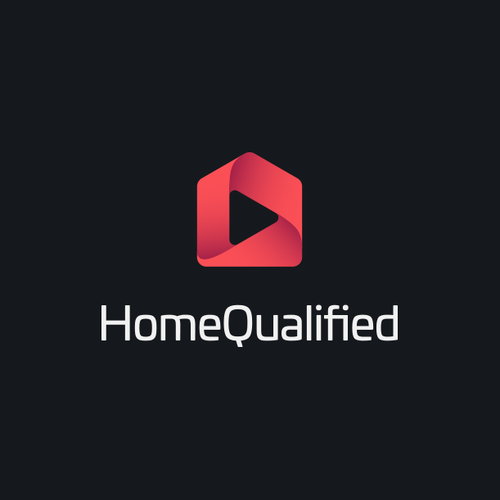 Video logo with the title 'Home Qualified Logo'