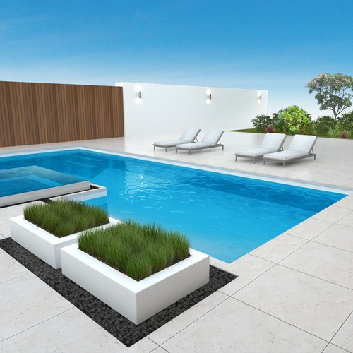 Pool design with the title 'Pool design'