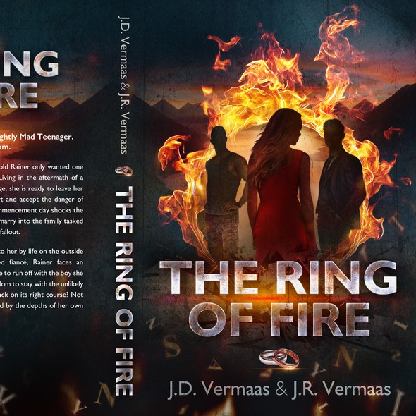 Adventure book cover with the title 'The Ring of Fire'