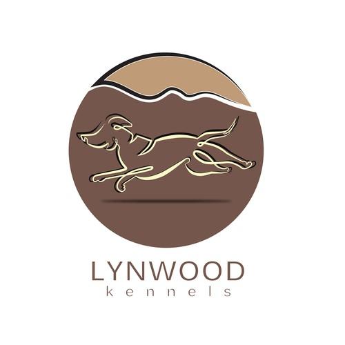 Kennel logo with the title 'Lynwood kennels kogo'