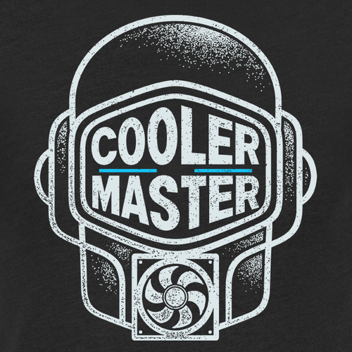 Computer t-shirt with the title 'Cooler Master logo reimagine Part I'