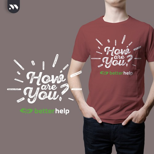 White and red design with the title 'T-Shirt design for betterhelp'