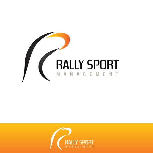 Rally design with the title 'Rally sport management logo'