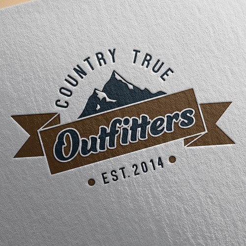 Country design with the title 'Outdoors Clothing Company Logo'