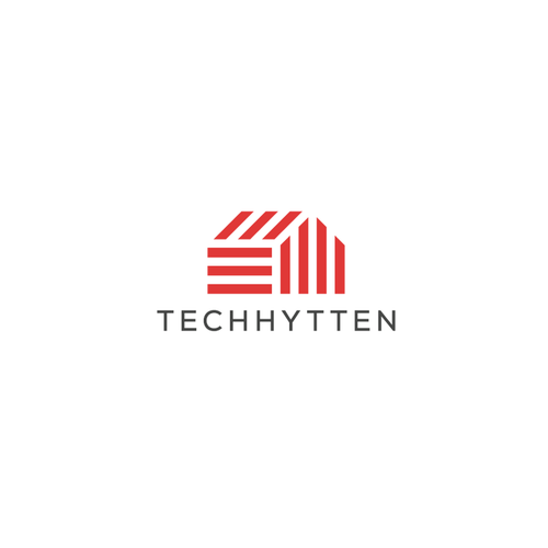 Cabin design with the title 'Techhytten'