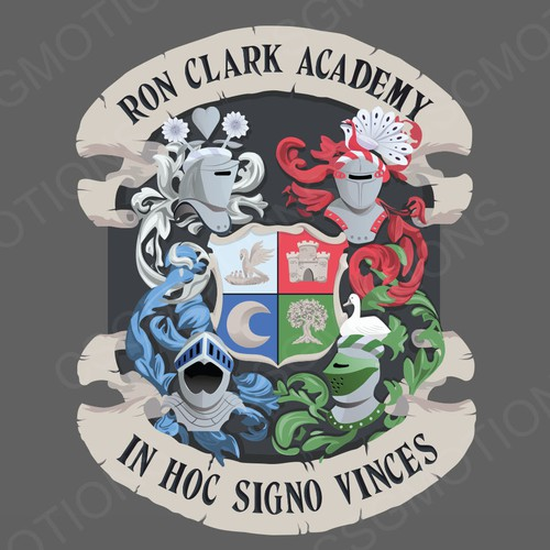 Vector illustration with the title 'Ron Clark Crest Illustration'