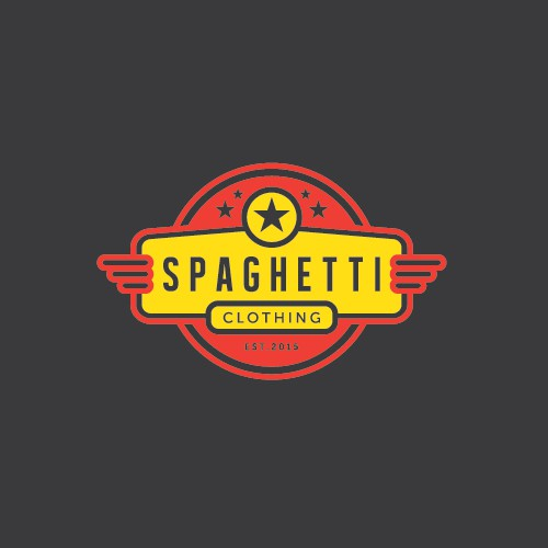 Dinner logo with the title 'Spaghetti Clothing'