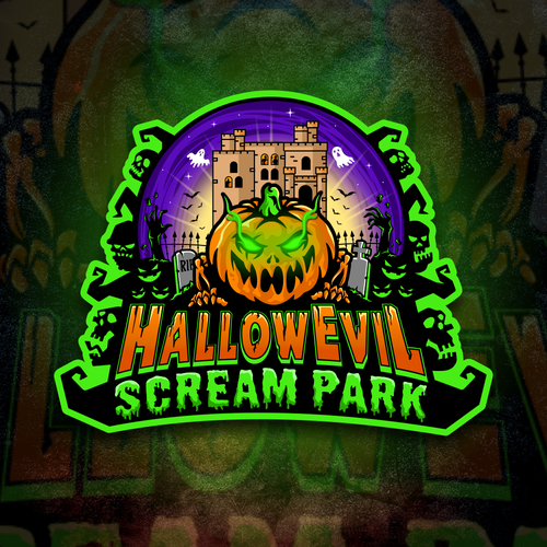Scream logo with the title 'Finalist proposal HallowEvil Scream Park'