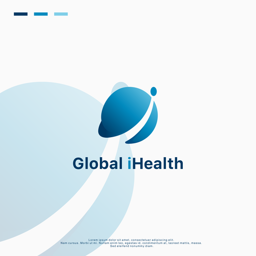 Global logo with the title 'Logo Design for Global iHealth'