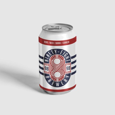 Minimalist Modern Beer Can design & Logo