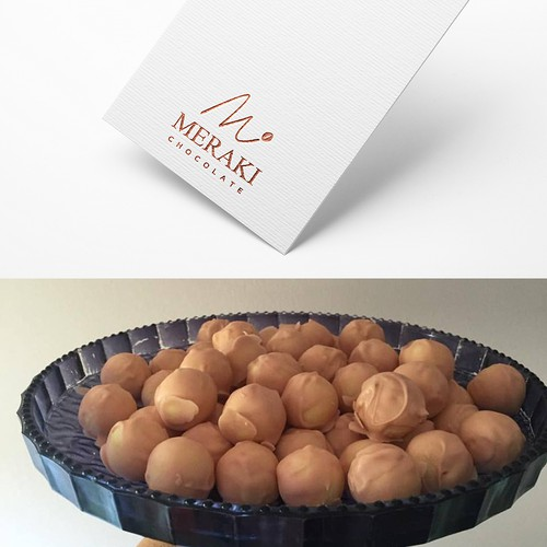 Chocolate bar design with the title 'Meraki chocolate'