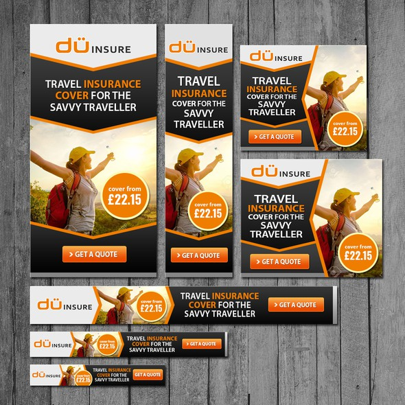 Travel design with the title 'Banner Design for duINSURE'