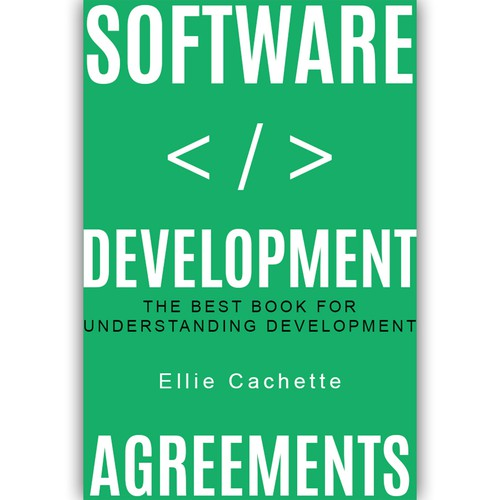 Technology book cover with the title 'Book cover for software development.'