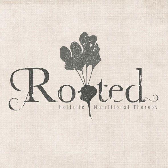 Distressed design with the title 'Create a vintage, beet root-inspired logo for a nutritionist & blogger!'