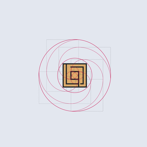 Golden ratio design with the title 'Cool logo for Construction Co'