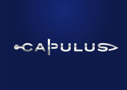 Chrome design with the title 'Capulus Logo: Simple, elegant, unique'