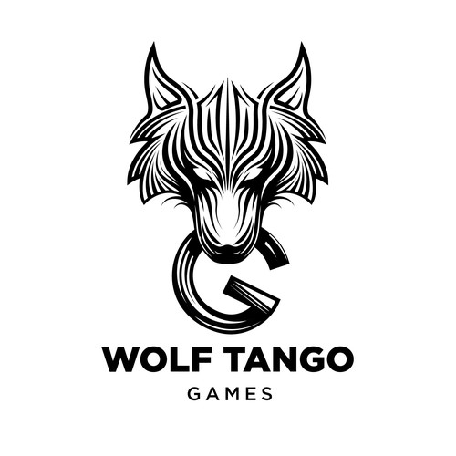 Video game design with the title 'Concept logo Games Studio'
