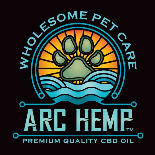 Pet brand with the title 'Logo for ARC HEMP pet care'