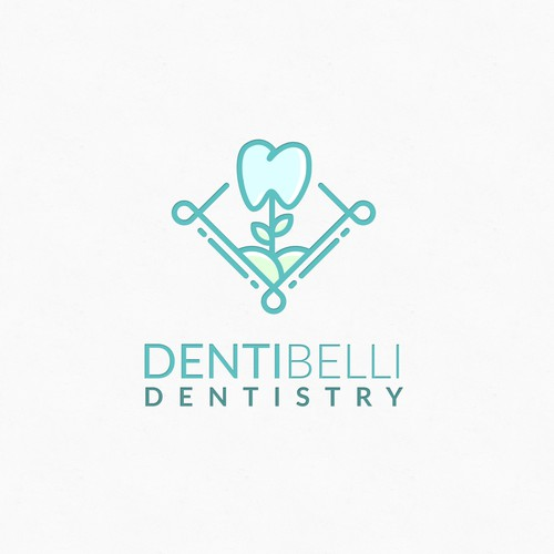 Mouth logo with the title 'DentiFlower'