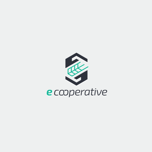 Organic design with the title 'Simple & minimal startup logo'