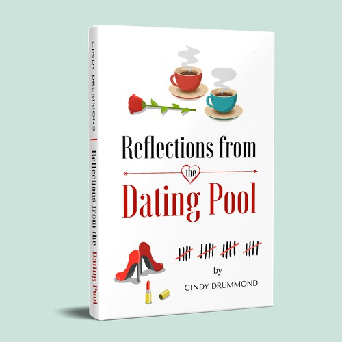 Date design with the title 'Eye-catching book cover that makes people want to read it'