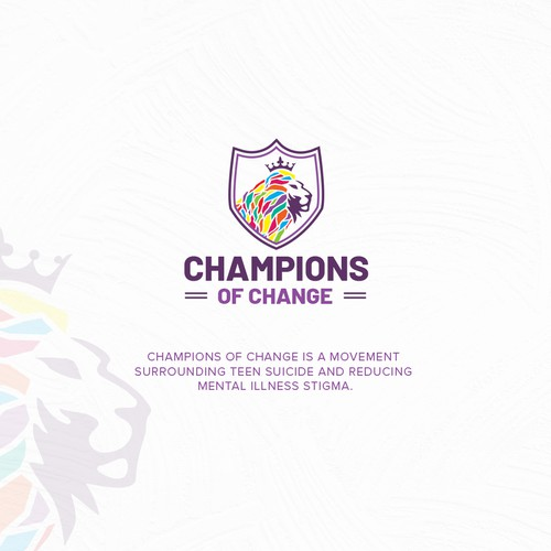 Change design with the title 'Champions of Change'
