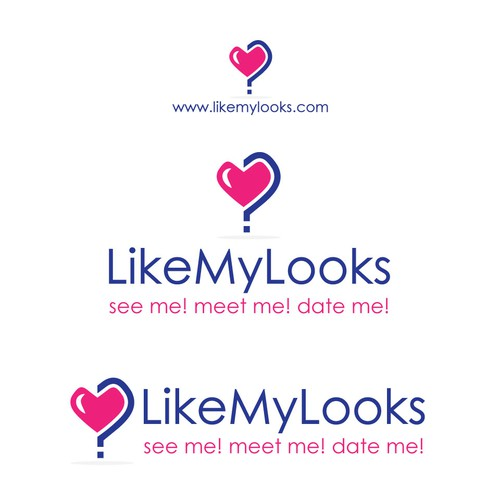 Question mark design with the title 'Like My Looks Dating Site'