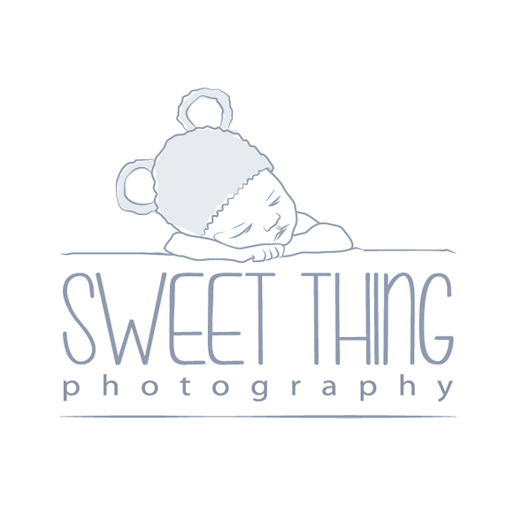 Toddler design with the title 'newborn photography logo'