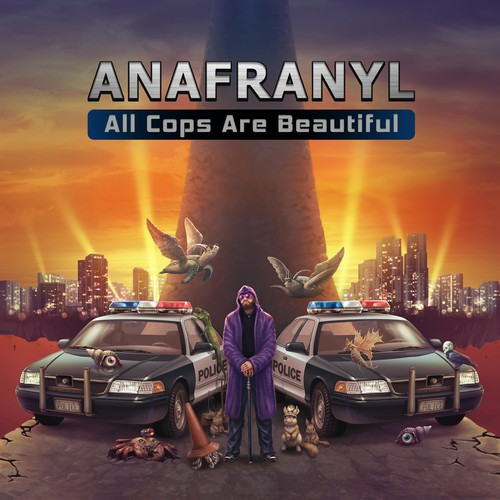 Surreal design with the title 'All Cops are Beautiful Cover'