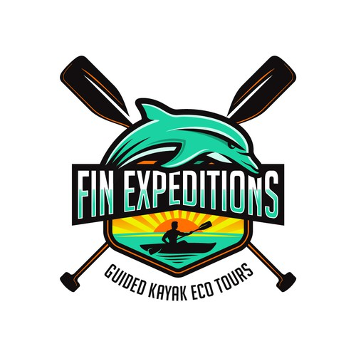 Paddle design with the title 'Fin Expeditions'