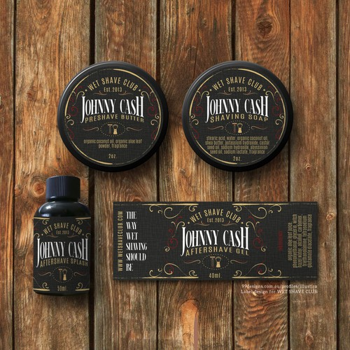 Heritage design with the title 'Classy & Vintage Product Label Design for Wet Shave Club'