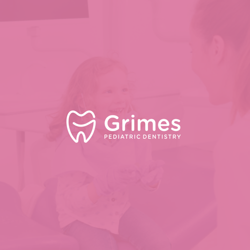Company brand with the title 'Grimes logo concept'